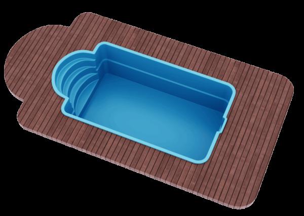 "Стекловолоконный бассейн 5,0х3,0х1,5 ТМ ""Голубая лагуна"""