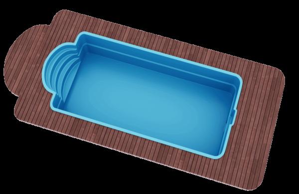 "Стекловолоконный бассейн 7,0х3,2х1,5 ТМ ""Голубая лагуна"""