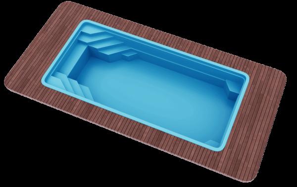 "Стекловолоконный бассейн 8,5х3,7х1,5 ""Голубая лагуна"""