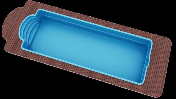 "Стекловолоконный бассейн 10,3х3,7х1,5 ТМ ""Голубая лагуна"""