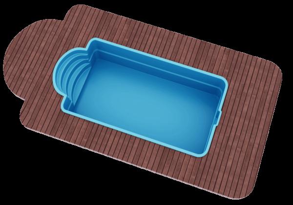"Стекловолоконный бассейн 6,0х3,0х1,5 ТМ ""Голубая лагуна"""