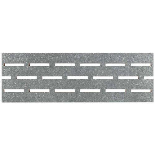 Переливная решетка из керамогранита Aquaviva Granito Gray, 595x195x20 мм