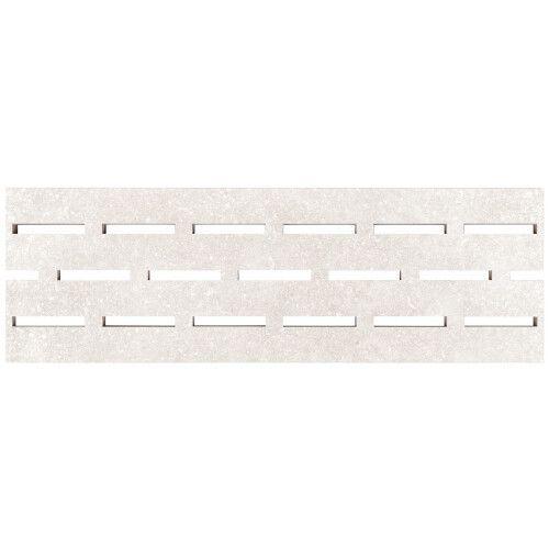 Переливная решетка из керамогранита Aquaviva Granito Light Gray, 595x195x20 мм