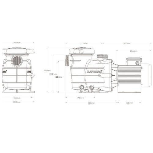 Насос для бассейна HAYWARD Powerline 81002, 5.4 м3/ч