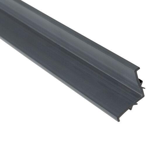 Профиль L-образный Aquaviva PP Gray для переливной решетки, 2000х25 мм