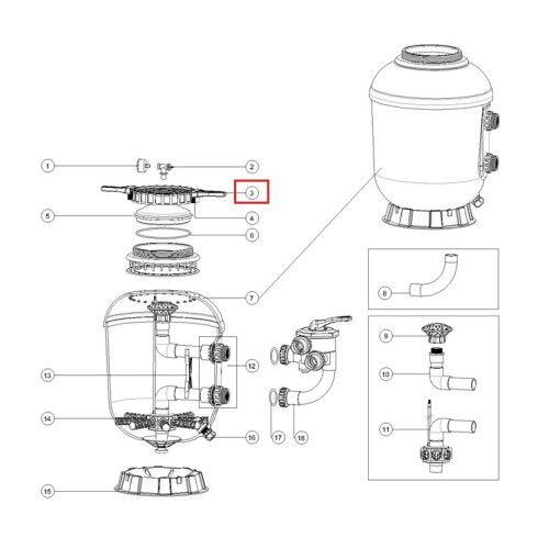 Кольцо зажимное для крышки фильтра серии SMG 500-900 Emaux