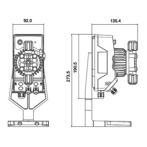 Мембранный дозирующий насос Slave 0.1-14 л/ч AMM200