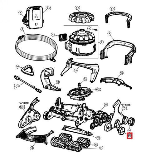 Комплект колес для робота-пылесоса AquaVac 600/650 (6шт) Hayward