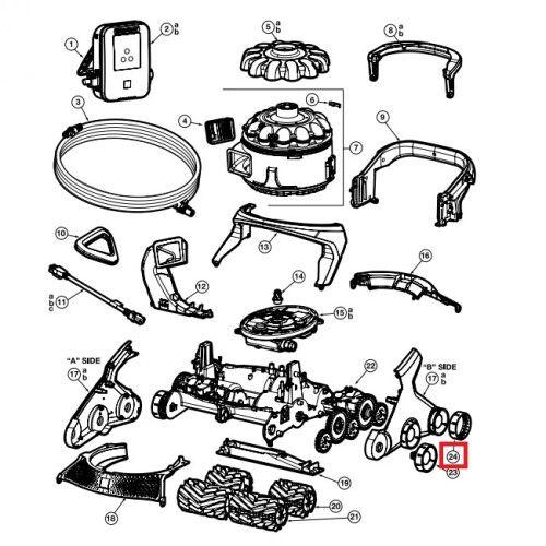 Комплект протекторов для колес робота-пылесоса AquaVac 600/650 (10шт) Hayward