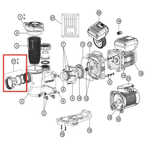 Комплект муфт для хлоратора NSC 15 EU SP2700UNKIT50 Hayward