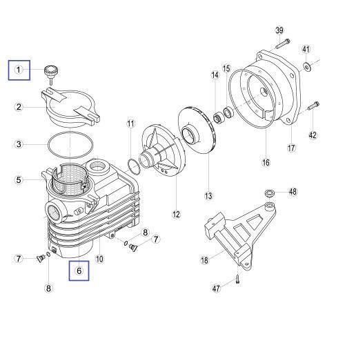 Винт для крышки предф. насосов (KAN/TT/Ksl) Kripsol