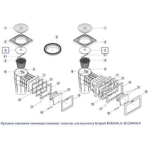 Крышка корзинки скимвак- адаптер для пылесоса Kripsol