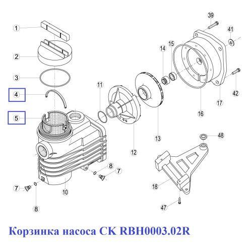 Корзинка насоса CK RBH0003.02R Kripsol