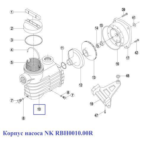 Корпус насоса NK RNK 100.A/ RBH0010.00R Kripsol