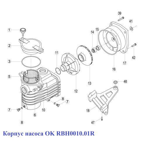 Корпус насоса OK RBH0010.01R Kripsol