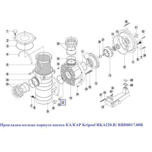 Прокладка-кольцо корпуса насоса КА/КАР RKA220.R Kripsol