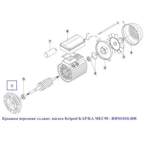 Крышка передняя эл.двиг. насоса KAP/KA MEC90 Kripsol
