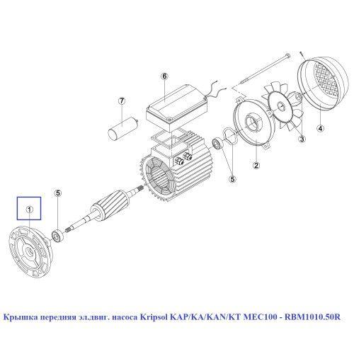 Крышка передняя эл.двиг. насоса KAP/KA/KAN/KT MEC100 Kripsol