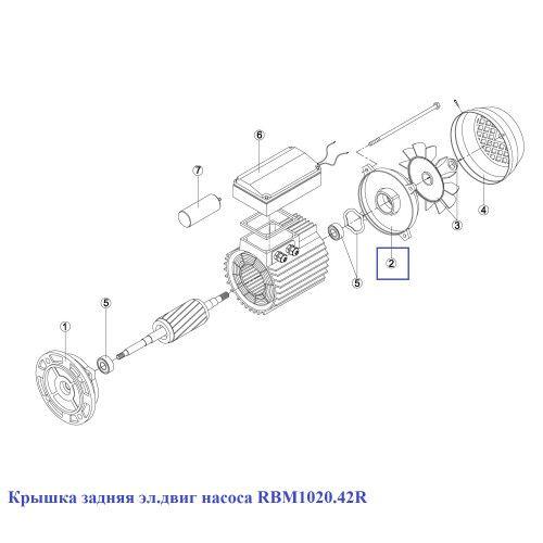Крышка задняя эл.двиг насоса KA/KAP 250-450 (MEC-90) Kripsol