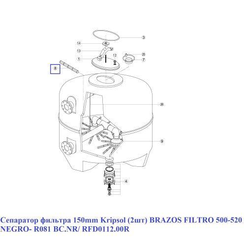 Сепаратор фильтра 150mm Kripsol (2шт)