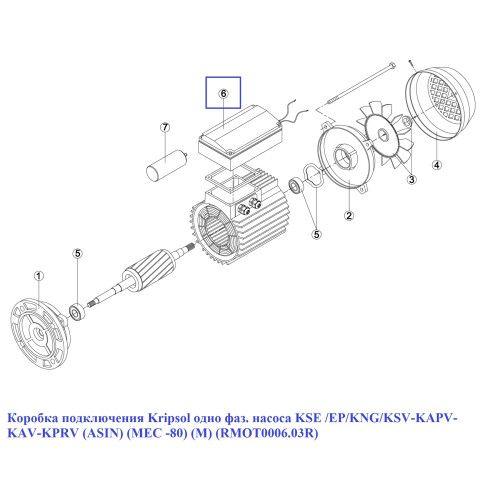 Коробка подключения одно фаз. насоса KSE /EP/KNG (МЕС 80) (M) Kripsol