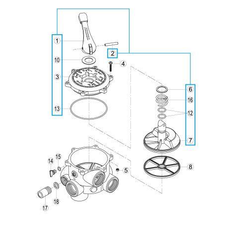 """Исполнительный механизм 6-ти поз.вентиля 2"""" RVS219.A/ R1210223.0 Kripsol"""