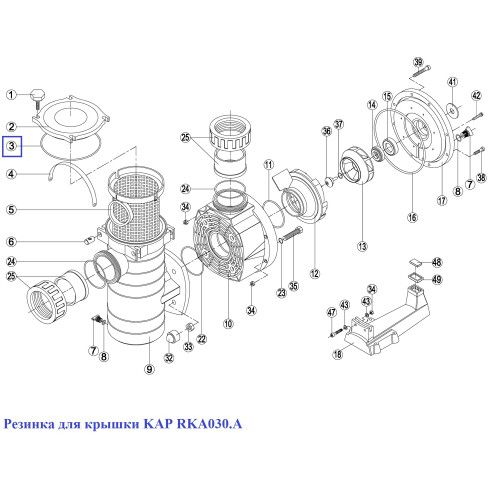 Кольцо крышки префильтра насоса KAP - RKA 030.A/RBH0011.05R Kripsol