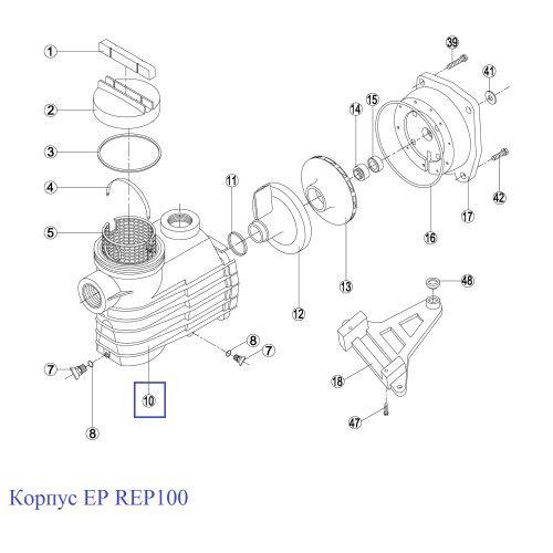 Корпус насоса EP - Rep 100.A / RBH0010.04R Kripsol