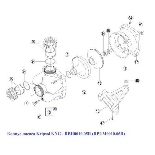 Корпуc насоса KNG - RBH0010.05R (RPUM0010.06R) Kripsol