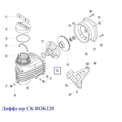 Диффузор CK ROK120 Kripsol