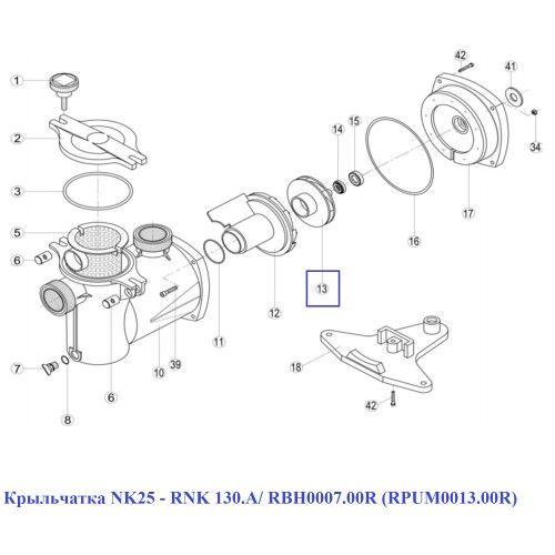 Крыльчатка NK25 - RNK 130.A