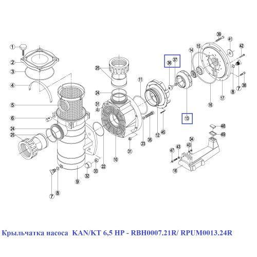Крыльчатка насоса KAN/KT BCP 6,5 HP Kripsol