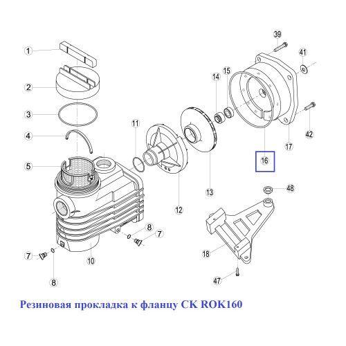 Резиновая прокладка к фланцу CK ROK160 Kripsol