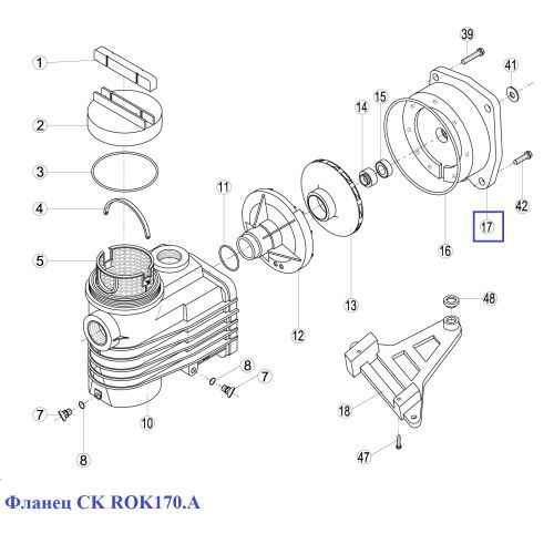 Фланец CK ROK170.A Kripsol