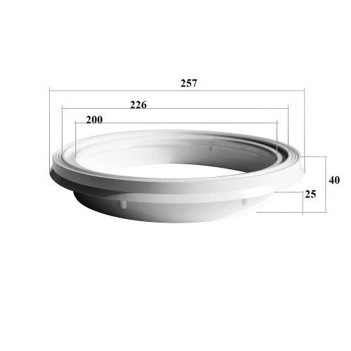 Круглая рамка для верхней крышки скиммера SKS, SKA, SKSL, SKAL Kripsol