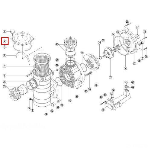 Крышка префильтра насоса KAN (BCP500-1250/BCPG) RPUM0002.07R Kripsol