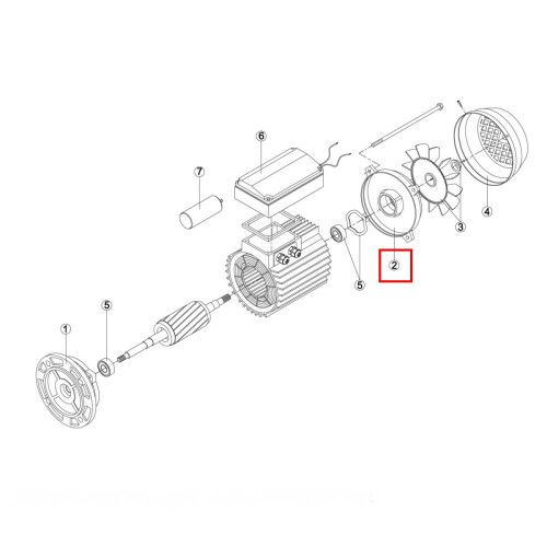 Крышка задняя эл. двигателя насоса (MEC 71) M3 Kripsol