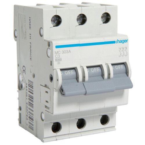 Автоматический выключатель MC 3-полюсный 6kA тип C