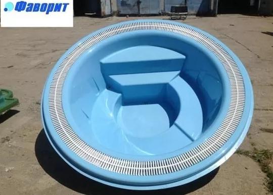 """Стекловолоконный переливной SPA-бассейн """"Мираж-1"""" 2,5х0,83м"""