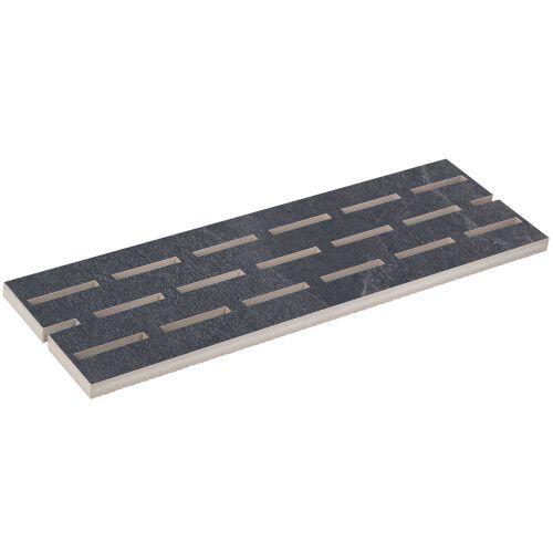 Переливная решетка из керамогранита Aquaviva Montagna Black, 595x195x20 мм