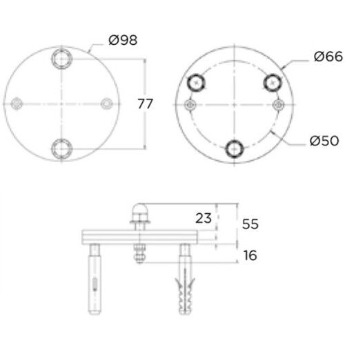Монтажный комплект для лестниц под лайнер Flexinox