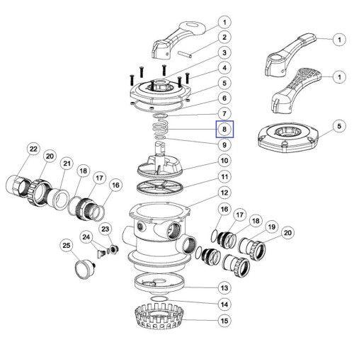 Пружина клапана MPV-1, MPV-3, MPV-7 Emaux