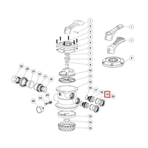 "Муфта адаптер клапана MPV-01 1.5"" Emaux"
