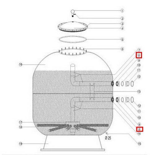 Муфта-фланец крепления для фильтров Aquaviva внешняя D1050/1250 мм