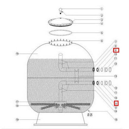 Муфта-фланец внутренная крепления для Aquaviva 1400 мм