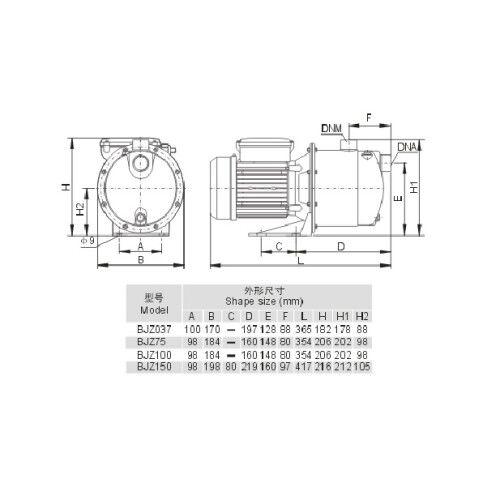 Насос для подачи воды напорный Aquaviva LX BJZ150 (220В, 4.2м3/ч, 1кВт)