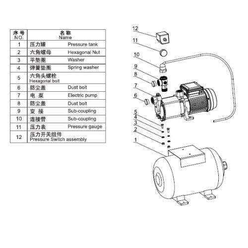 Насосная станция для подачи воды Aquaviva LX ABM2-9*5-H24 (220В, 2м3/ч, 1кВт)