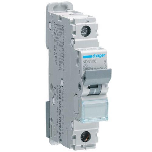Автоматический выключатель тип D NDN 1-полюсный 10kA