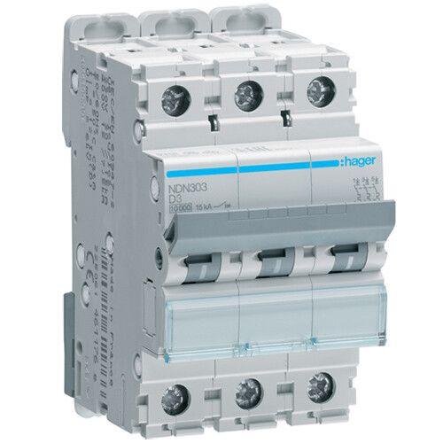 Автоматический выключатель тип D NDN 3-полюсный 10kA