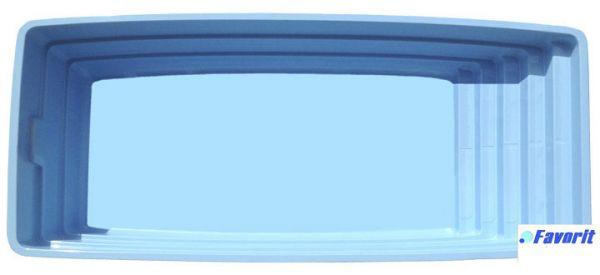 """Стекловолоконный бассейн """"Женева"""" 7,8x3,4м Favorit"""